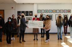 Chichester students' artwork raises money for Stonepillow
