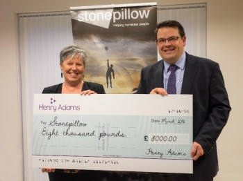 Henry Adams raise £8,000 for Stonepillow!